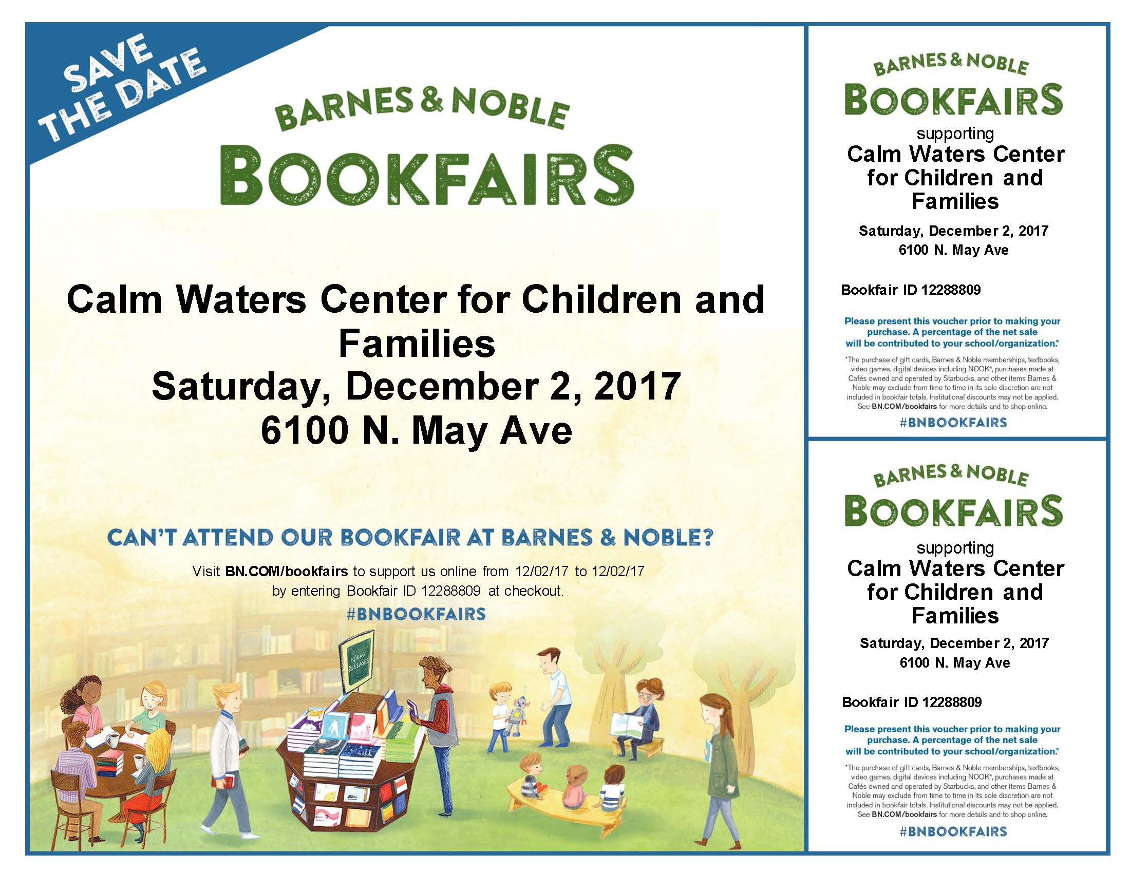 Barnes n Noble Fundraiser Calm Waters